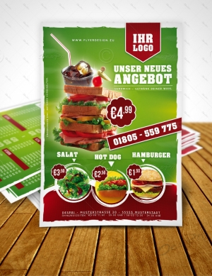 Sandwich, Fast Food, Imbiss Flyer Design für Despri.de #0008A