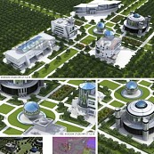 3D Online-Learning-Campus (Exterior)